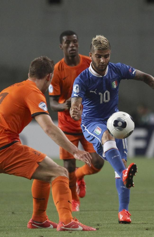 ~ Lorenzo Insigne on the U-21 Italy National Team against Netherlands in the U-21 Euro Cup ~