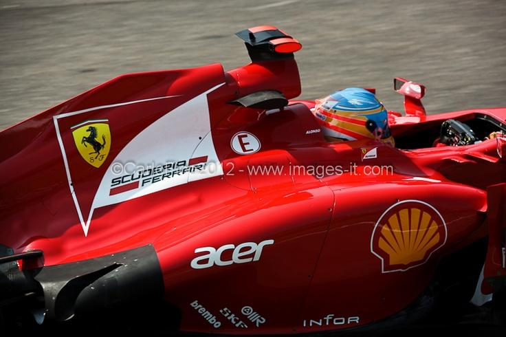 """Ferrari F2012 Fernando Alonso      © Carlo Fico. Tutti i diritti riservati. Vietata ogni manipolazione delle immagini, il download e l'utilizzo non autorizzato da """"Images di Fico Carlo"""". www.images-it.com; info@images-it.com"""