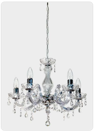 Marie Therese 5 Light Chandelier - Chrome, Pendants, Crystal Chandeliers, New Zealand's Leading Online Lighting Store
