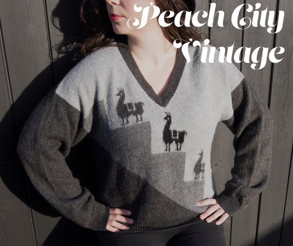 80's Alpaca Sweater by PeachCityVintage on Etsy