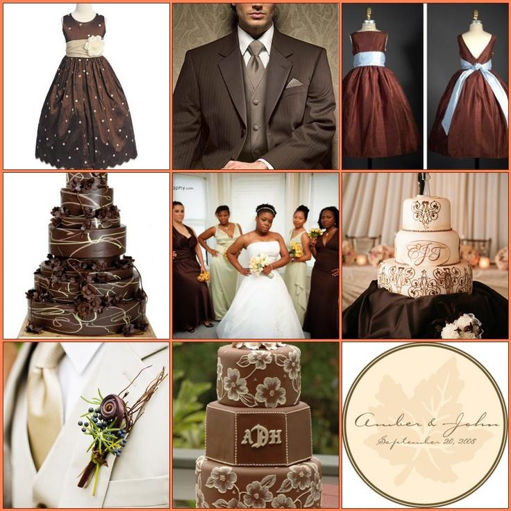 Chocolate Ivory Wedding