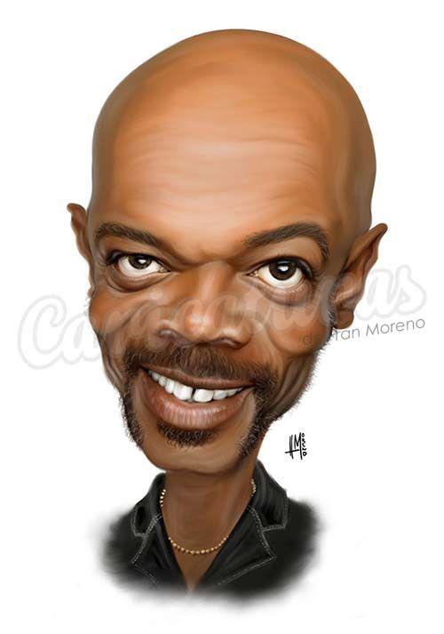 "Caricatura de ""Samuel L. Jackson"" por Fran Moreno"