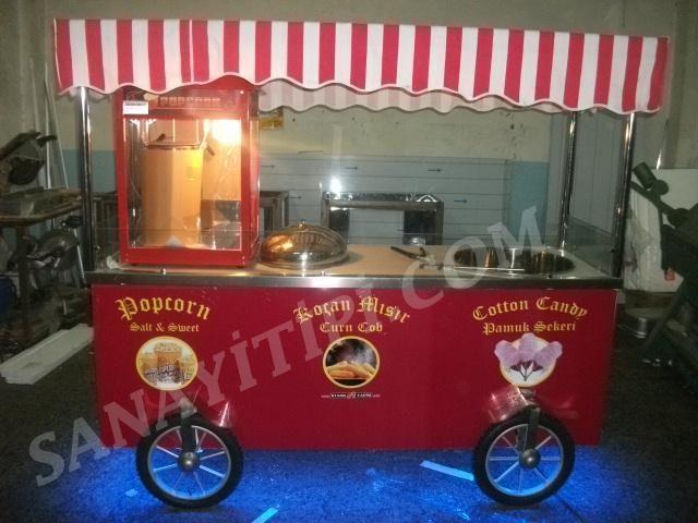 Koçan Mısır + Popcorn (Patlamış Mısır) + Pamuk Şeker Arabası » - Sanayi tipi