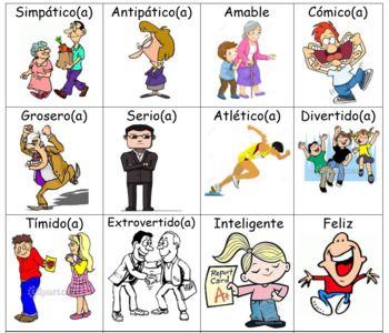 Spanish Adjectives Flashcards