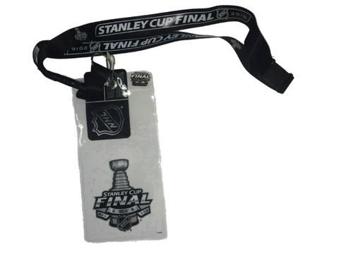 2016 NHL Stanley Cup Final Playoffs Black Lanyard Ticket Holder Pin Set - Sporting Up