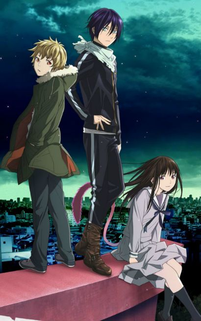 Noragami--Yukine, Yato, Hiyori