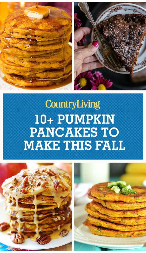 Save these pumpkin pancake recipes for later by pinning this image, and follow Country Living on Pinterest for more.