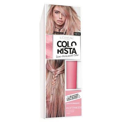 L'Oreal Paris Colorista Semi-Permanent für hellblondes oder gebleichtes Haar SoftPink – 4 fl oz