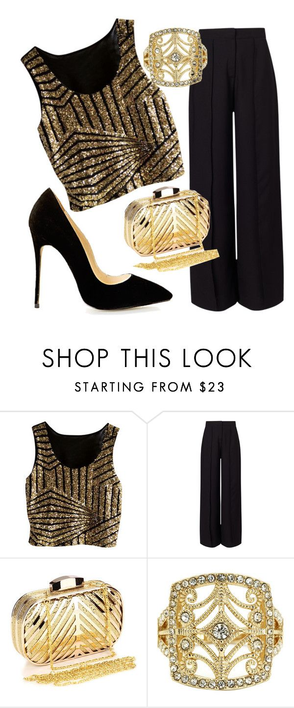 """Golden night"" by egle-dambrauskaite on Polyvore featuring Miss Selfridge and Chicnova Fashion"
