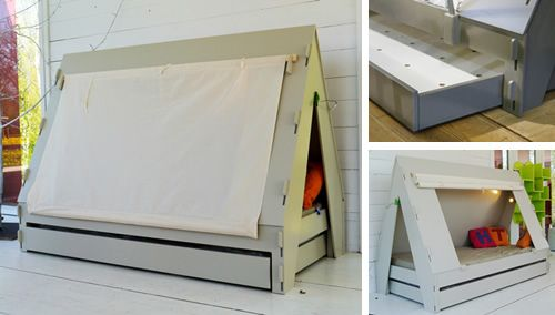 Tent bed designed by Francois Lamazerolles