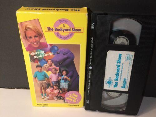 Barney-amp-The-Backyard-Show-VHS-Video-Starring-Sandy ...