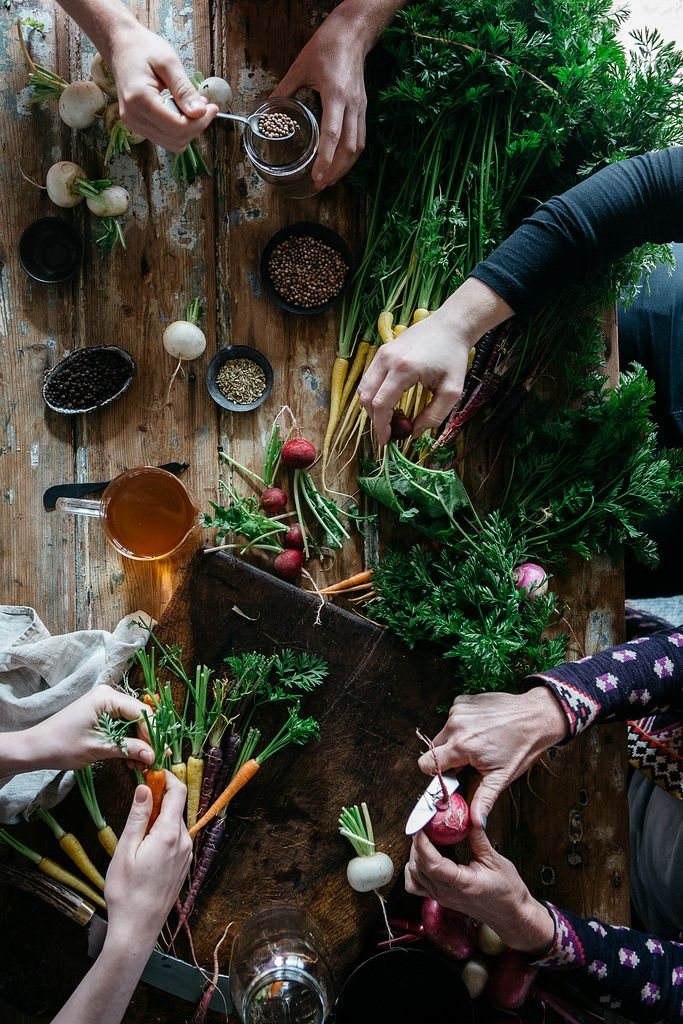 Local is Lovely Autumn Pracshop™ Pickling Scene. Styled by Stephanie Somebody. Vegetables by Epicurean Harvest. Photo by Luisa Brimble.