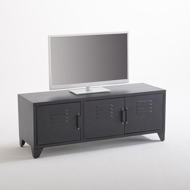 Le Meuble Tv 3 Portes Hiba Inspire Du Mobilier Industriel Ancien Ce Meuble Tv Joue L In 2020 Industrial Style Industrial Style Furniture Home Furnishing Accessories