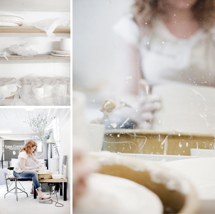 Kajsa Cramer's ceramic studio