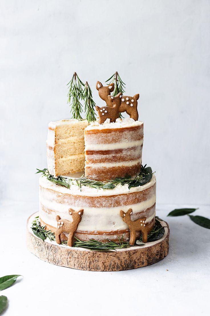 Kuchen mit veganer Zitrone und Holunderblüte mit Chai Spice Biscuits