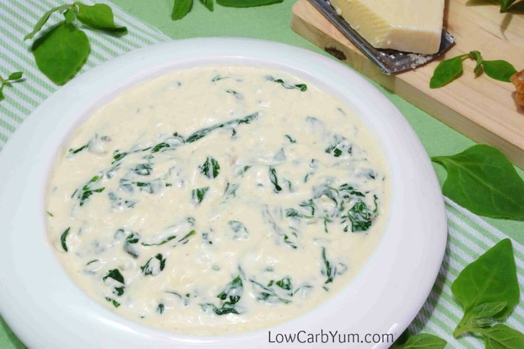 Cheesy low carb creamed spinach recipe