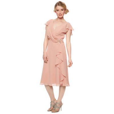 No. 1 Jenny Packham Designer dark peach drape front dress- at Debenhams.com
