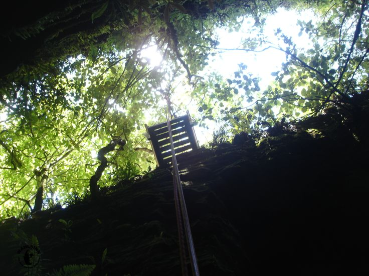 Abseiling beim Kiwi Cave Adventure