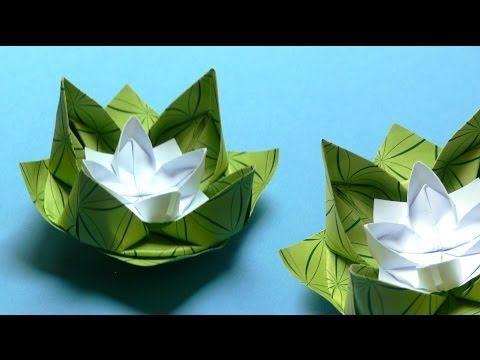 Origami Blumen falten - #02 Seerose - YouTube