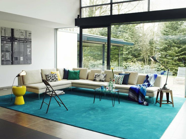A #rug brings the #interior together. #Carpet by #Desso Asteranne.