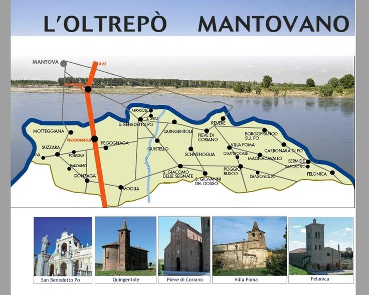 Mappa del territorio dell'Oltrepò #Mantova #Mantua #Italia #Italy #colline #moreniche #hills #morainic