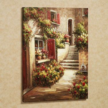 Tuscan Flowers Canvas Wall Art: I would like this