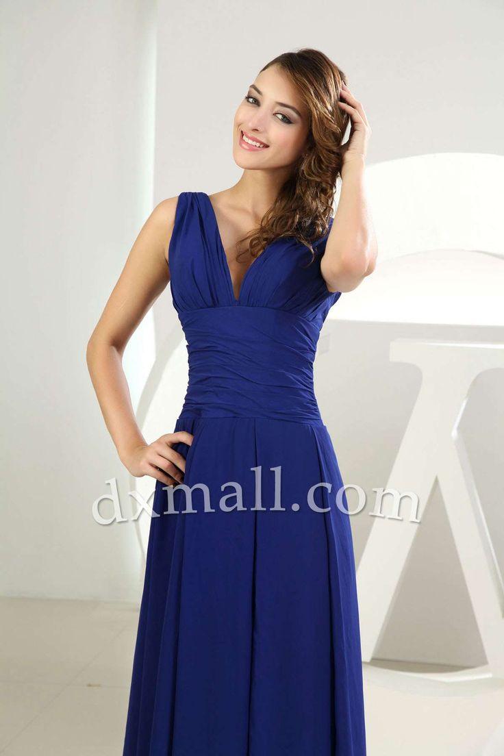 Best 25 ankle length bridesmaids dresses ideas on pinterest empire bridesmaid dresses v neck ankle length satin royal blue 010010300122 ombrellifo Images