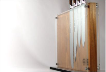 OB. SESSED.  Schmidt Brothers Cutlery universal knife blocks and cutting boards