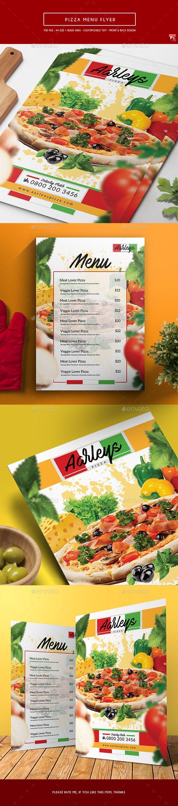 1000 ideas about Pizza Menu Design – A La Carte Menu Template