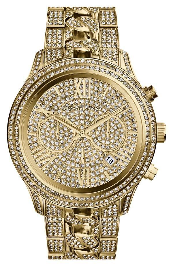 17 best images about relojes michael kors men sparkly michael kors chronograph bracelet watch