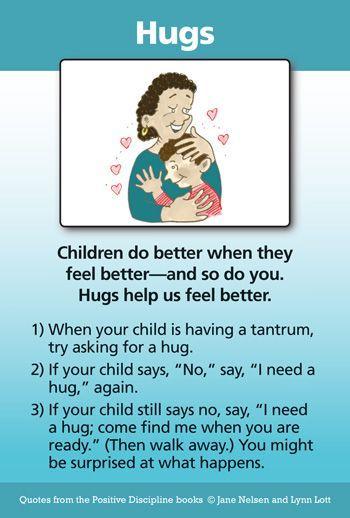 Parenting -Hugs: A Positive Discipline Tool Card | Positive Discipline #positiveparenting