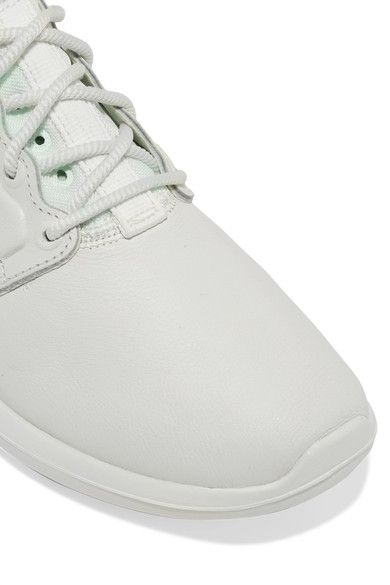 Nike - Roshe Two Textured-leather And Mesh Sneakers - White - US