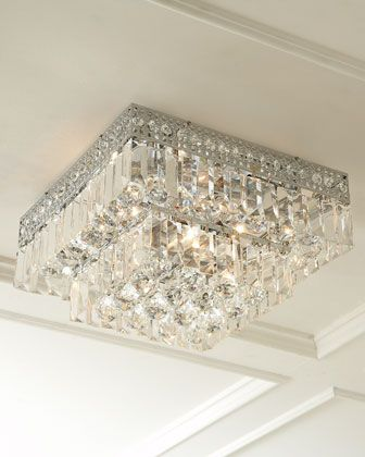 Five-Light Crystal Ceiling Fixture by DALE TIFFANY at Horchow.