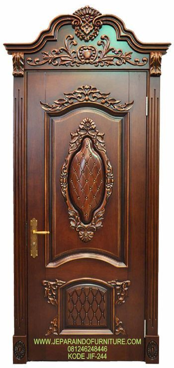 Harga Kusen Pintu Ukir Mewah Modern Terbaru, Furniture Pintu Kusen Ukir Mewah Terbaru, Konsep Pintu Ukir Klasik Murah Mewah