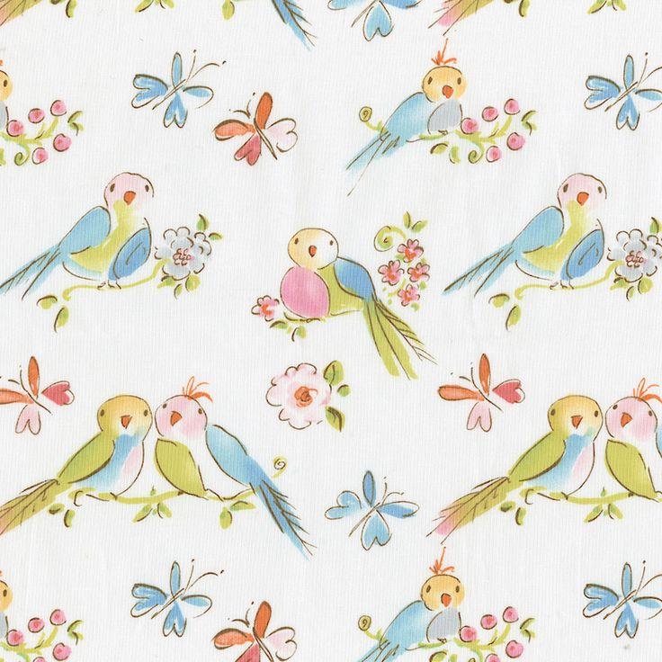 Love Birds Fabric By The Yard
