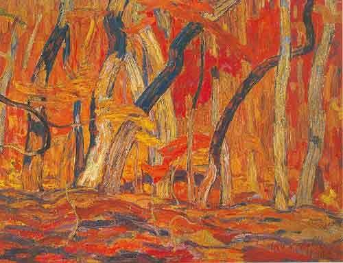 Alexander Y. Jackson,  Maple Woods Algoma Fine Art Reproduction Oil Painting