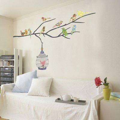 Colourful Birds - Mural - Wall Stickers Home Art Deco Wall Decals by FixPix - WallSensation, http://www.amazon.co.uk/dp/B003MUFCGC/ref=cm_sw_r_pi_dp_aFSBsb0VNG544