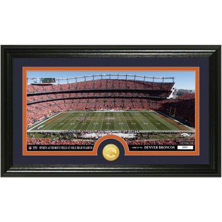 The Highland Mint NFL Stadium Bronze Coin Panoramic Photo Mint, Denver Broncos