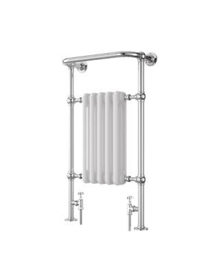 Etiquette Traditional Panel Chrome/White 1510x510mm Radiator | Wickes.co.uk
