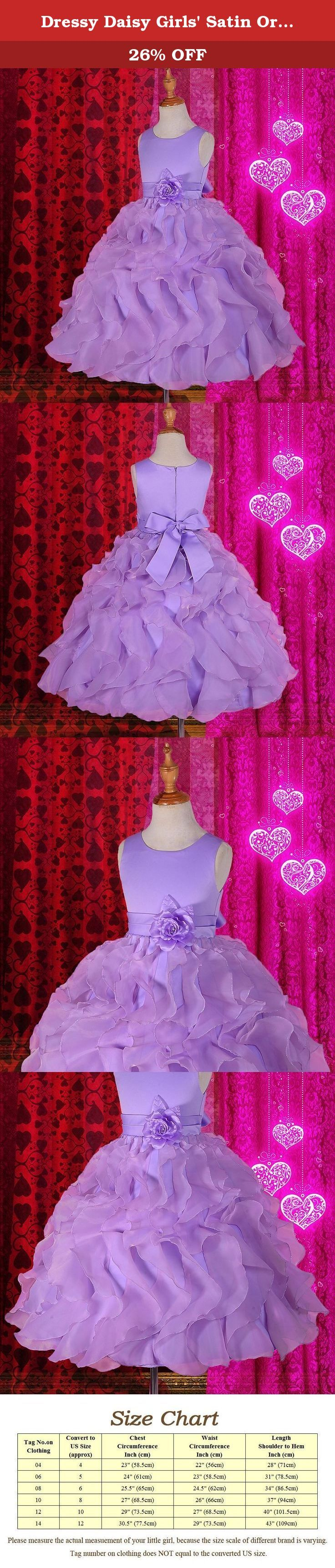 Dressy Daisy Girls' Satin Organza Ruffle Flower Girl Dresses Pageant Gown Party Occasion Dress Size 10 Purple. ** Extra petticoat used in pictures ** It is great for any occasion such as wedding, party, birthday, holiday, and other special events. You and your little princess will love this dress. For the shipments fulfilled by seller, it takes 8-12 working days to deliver. For those buyers who are outside USA, it may takes a little longer time. We offer expedited delivery service as…