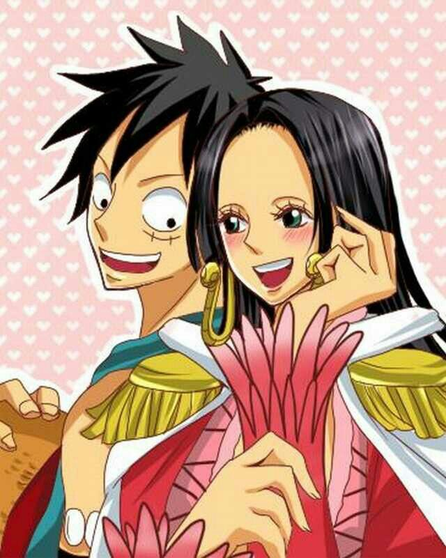 136 best images about monkey d luffy x boa hancock on pinterest one piece funny the - One piece luffy x hancock ...