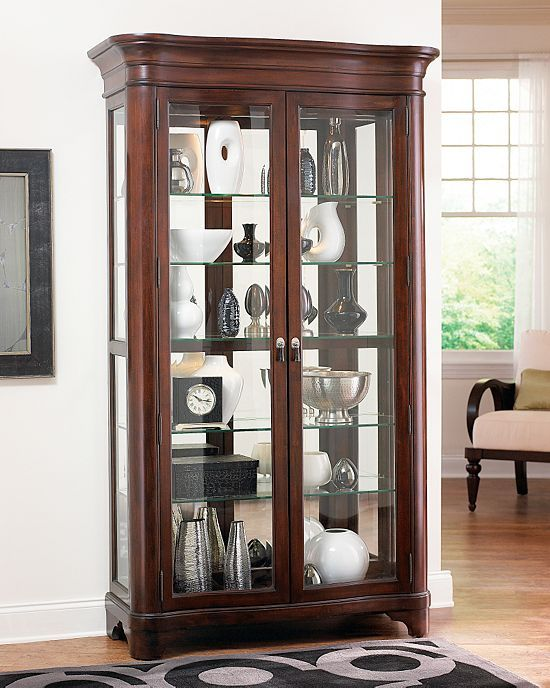 18 best curio cabinets images on pinterest. Black Bedroom Furniture Sets. Home Design Ideas