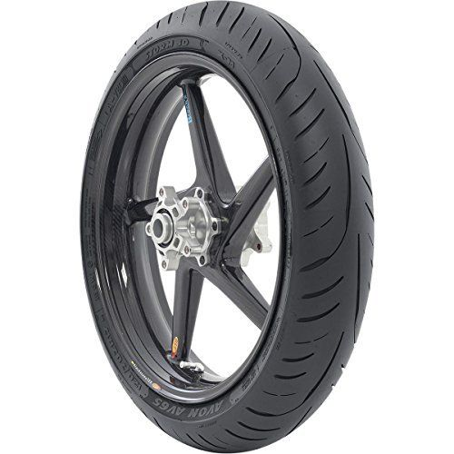 Avon Tyres AV65 Storm 3D X-M Sport Front Tire – 120/70ZR-18, Position: Front, Rim Size: 18, Tire Application: Sport, Tire Size: 120/70-18, Tire Type: Street, Load Rating: 59, Speed Rating: (W) 90000020787