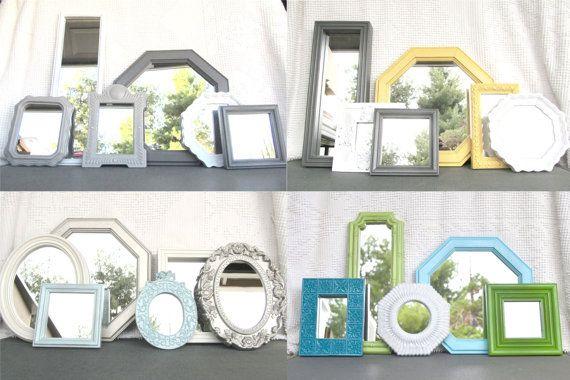 Custom Vintage Modern Mirror set of 5 You CHOOSE by BeautiSHE