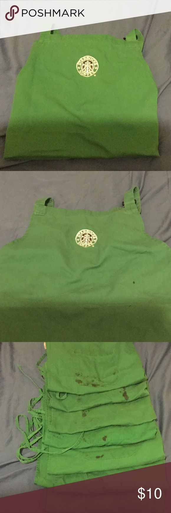 Starbucks Barista Apron - READ DESCRIPTION!!! Barista Starbucks Aprons; SOLD INDIVIDUALLY!!! Aprons all have pocket stains - true representation of a hard working barista! Price negotiable. Starbucks Coffee Company Other