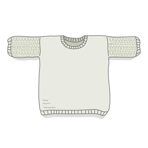 Fiche technique en français permettant de tricoter Claude, pull alliant jersey endroit et point confetti, avec explications détaillées et schéma pour les dimensions.Niveau de tricot intermédiaire. Claude se tricote en circulaire, cela peut être l'occasion de se familiariser avec cette technique!