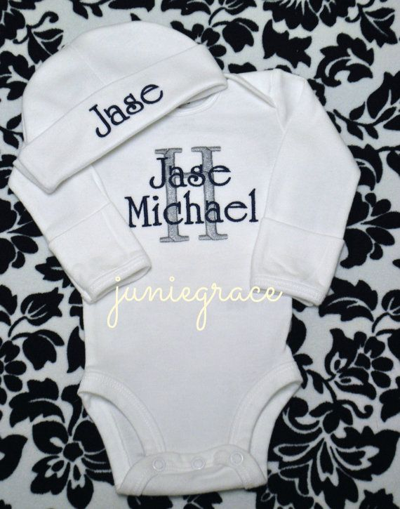 Personalized Baby Boy Coming Home Outfit Take Home by juniegrace