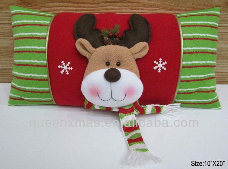 Navidad de felpa cojín de reno