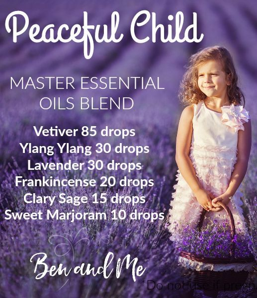 Peaceful Child Master Blend -- need help for children with ADHD, Asperger's, Autism, Anxiety, Tourette's, SPD? Try this DIY essential oil blend!