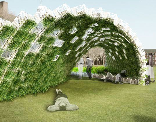 Pavilion Design | Living pavilion, green wave, ann ha, behrang hehin, new york city ...